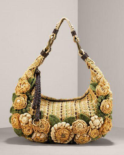 Crochet Pocketbook : BOLSO DE FLORES TEJIDO A CROCHET PASO A PASO Patrones Crochet ...