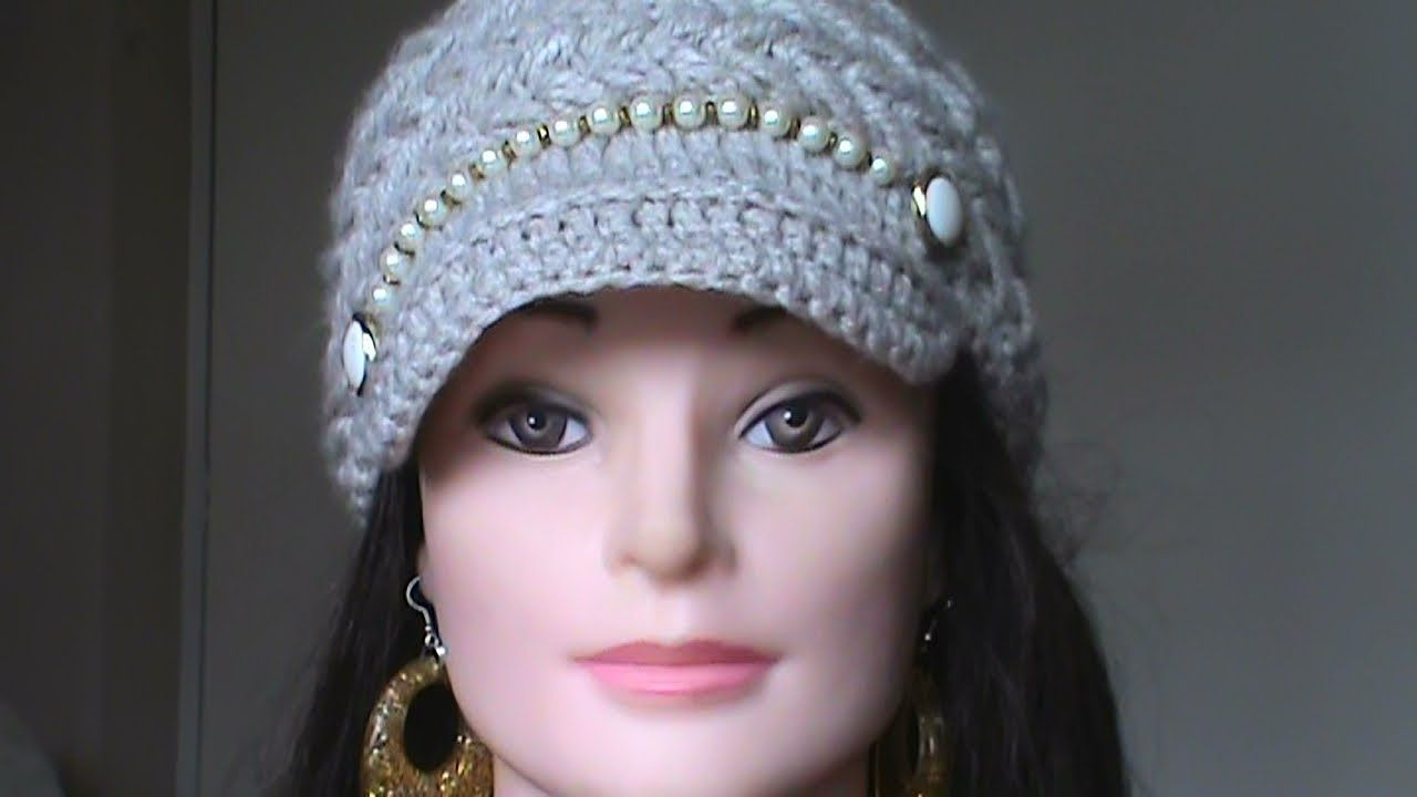 Como Tejer Gorro Para Mujer En Crochet Paso A Paso Youtube ...