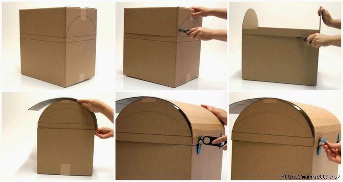 Ba l de carton patronesmil - Como decorar un baul de madera ...