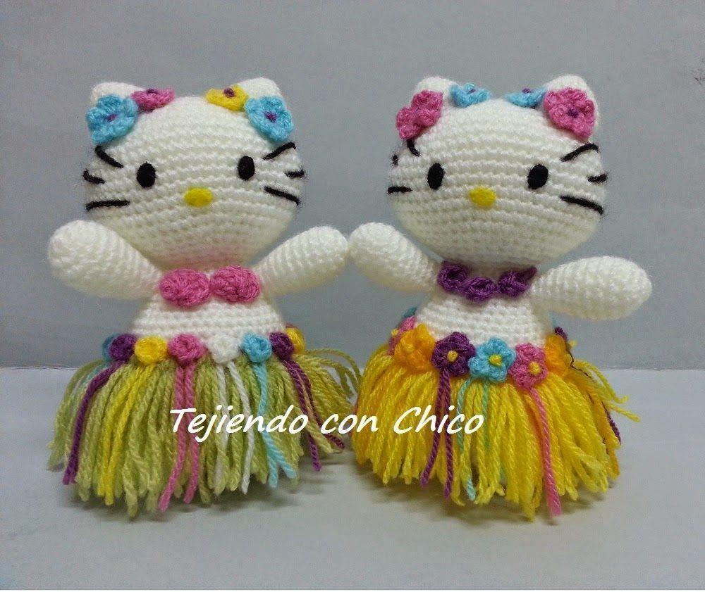Amigurumi De Hello Kitty : Hello kitty hawaiana en amigurumi - Patrones gratis