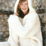 Jersey blanco con capucha