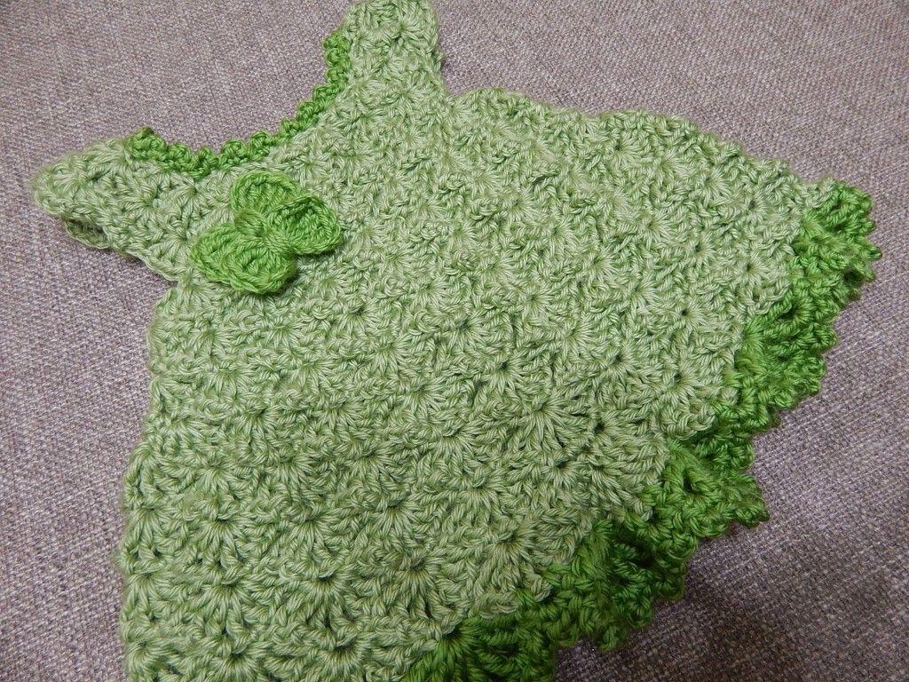 4be6cee98 Vestido color Pistacho para Bebe Crochet - Patrones gratis