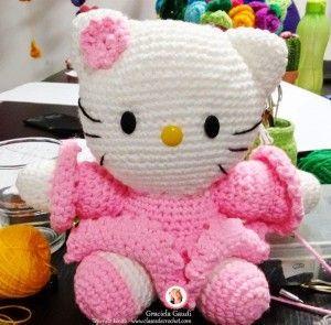 Kitty Mariquita Amigurumi : Hello kitty vestida de largo - PatronesMil