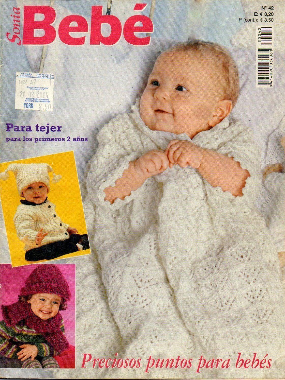 Ropa de bebé hasta los dos años tejida a punto o dos agujas. Revista