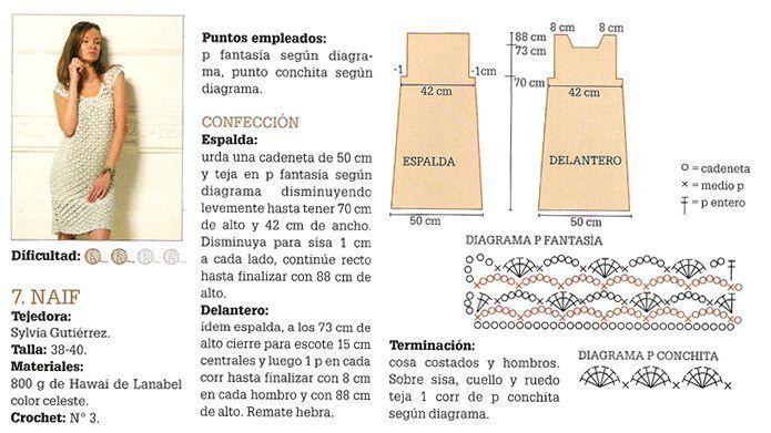 VESTIDO CALADO A CROCHET - PATRON