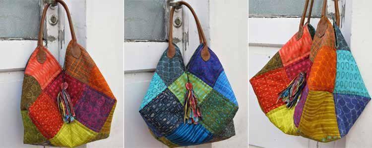 Tutorial bolso patchwork patrones gratis - Manualidades patchwork bolsos ...