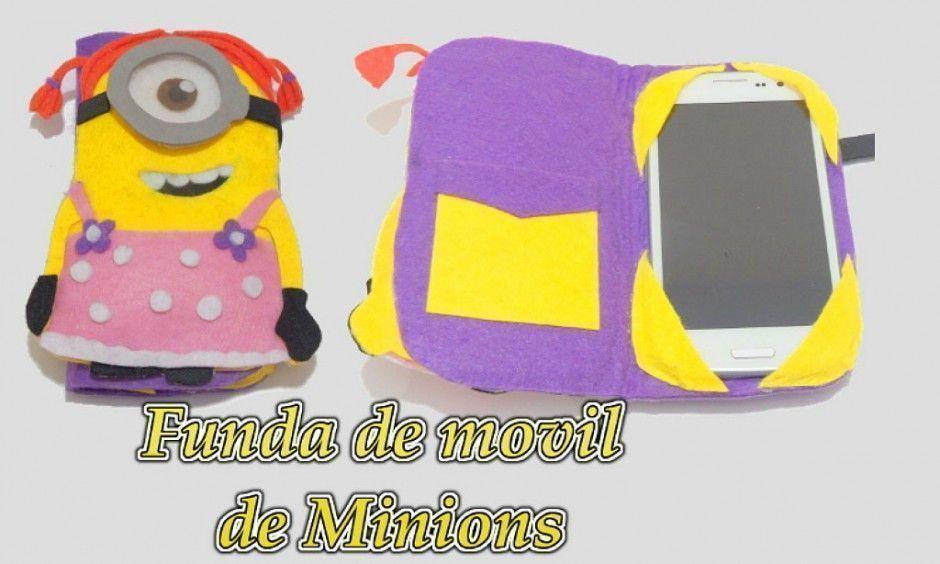 Funda para el móvil de fieltro de Los Minions   PatronesMil