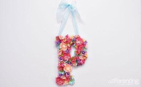 letras llenas de flores
