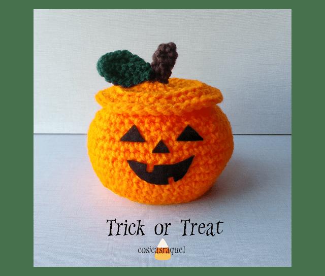 Calabaza crochet para chuches halloween patrones gratis - Calabazas para halloween manualidades ...