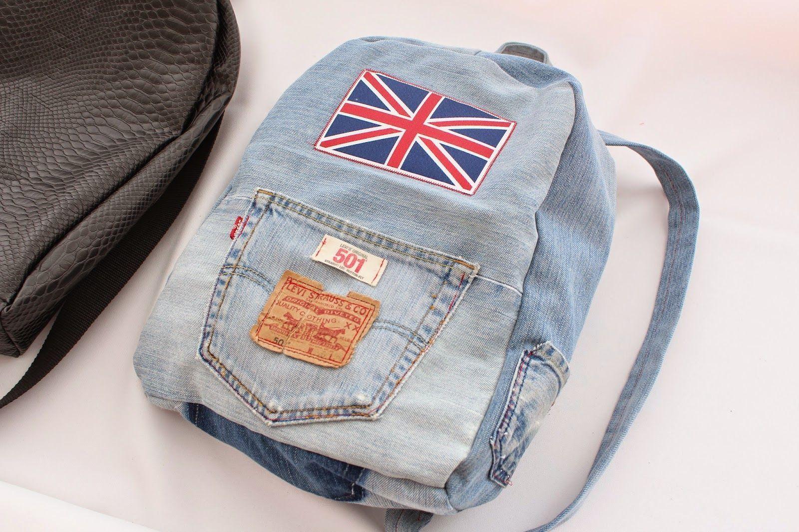 como hacer una mochila de jeans patrones gratis