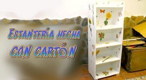 Tutorial mueble estanter a hecha de cart n patrones gratis Como hacer un zapatero