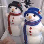 Muñeco de nieve en amigurumi paso a paso