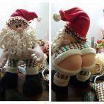 Papá Noel gracioso y original con patrón