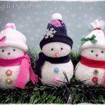 Muñeco de nieve con calcetines paso a paso
