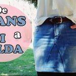 Reciclar de pantalón vaquero a falda