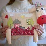 Patrón de Cojín de vaca