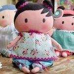 Muñeca Tilda Baby en fieltro