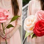 Como hacer Rosas gigantes con papel crepé