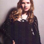 Jersey crochet calado negro
