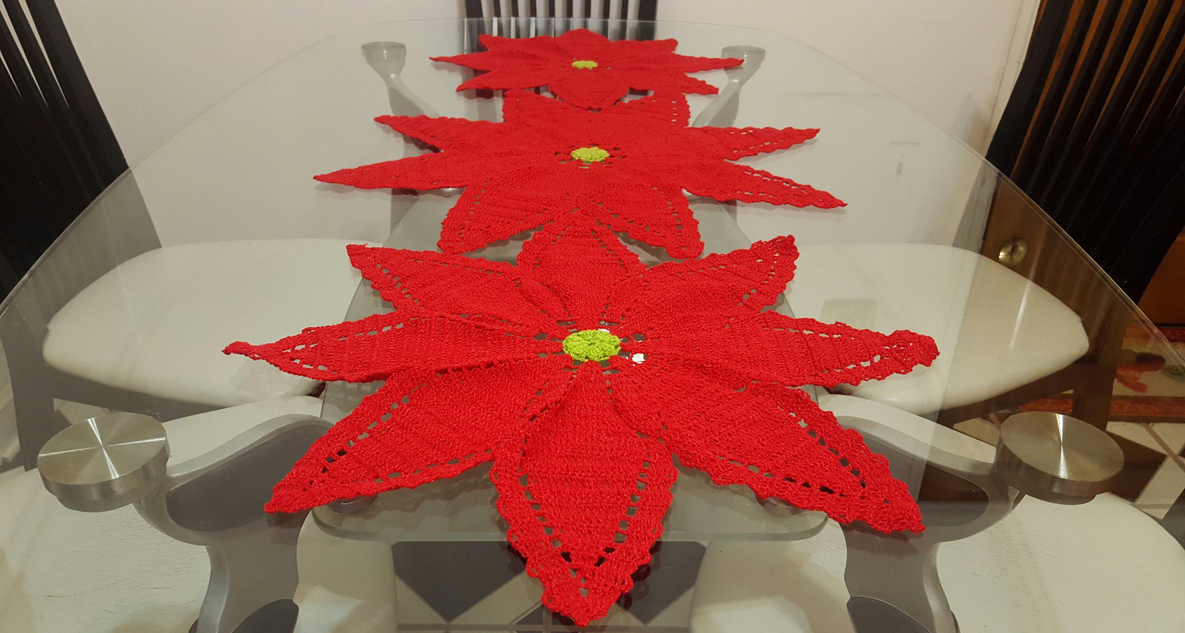 flor-de-nochebuena-en-crochet - Patrones gratis