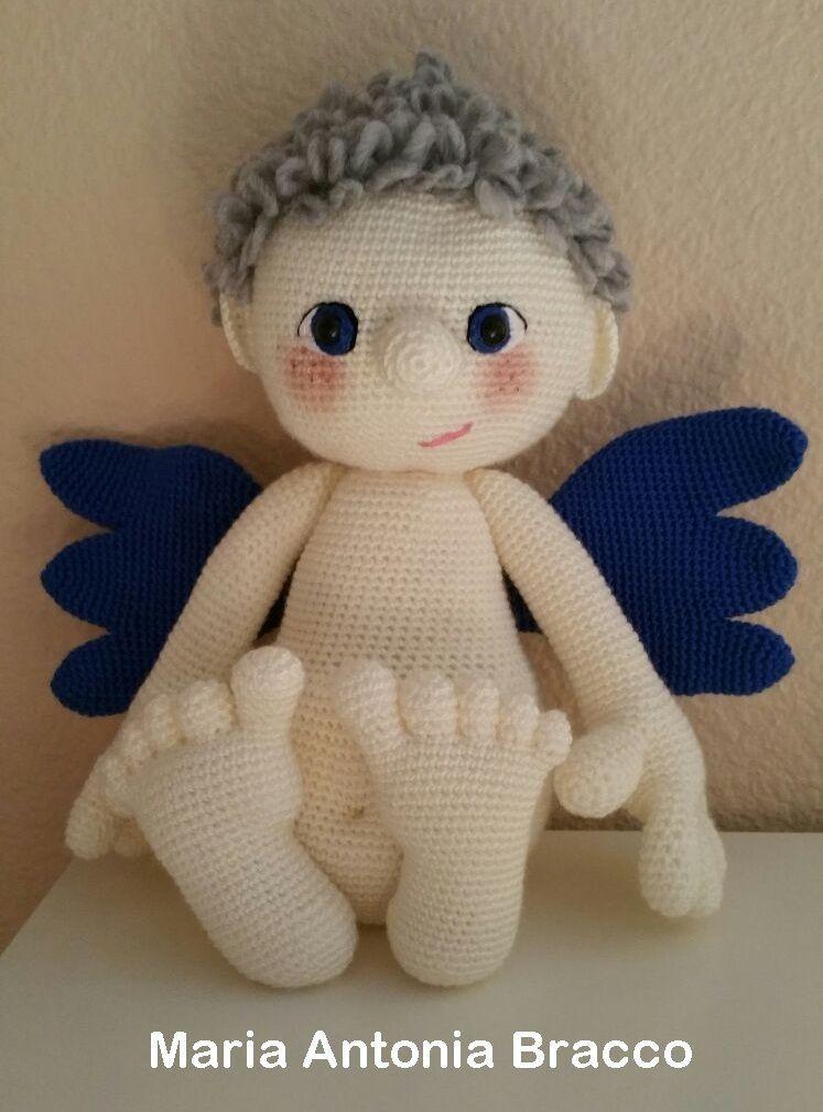 Little Angel- Amigurumi Crochet Pattern / PDF e-Book / Stuffed Animal  Tutorial   Häkeln grundlagen, Handarbeit, Weihnachten häkeln   1010x747