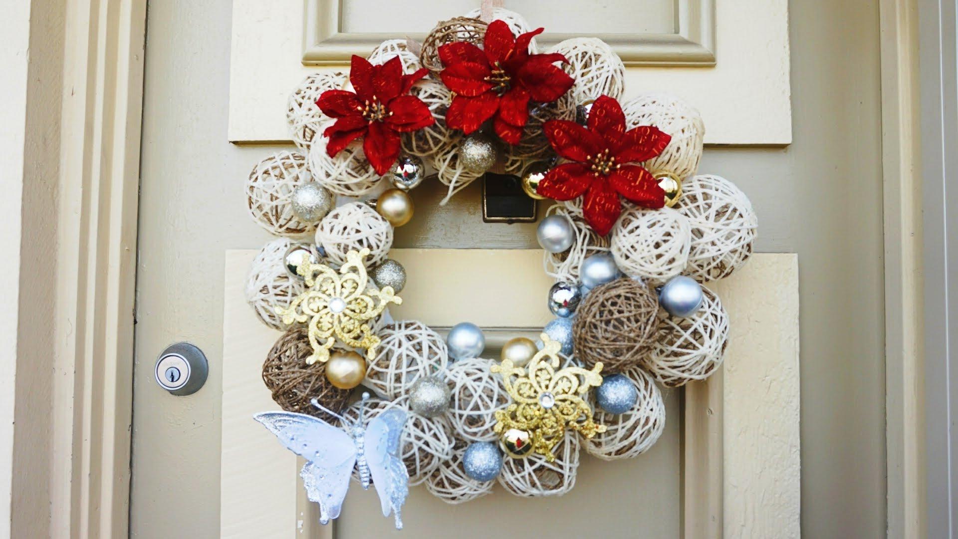 Diy como hacer una corona de navidad patrones gratis for Coronas navidenas para puertas 2016