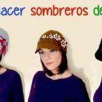 DIY Sombrero de fieltro vintage