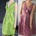 Vestido clásico con pliegues