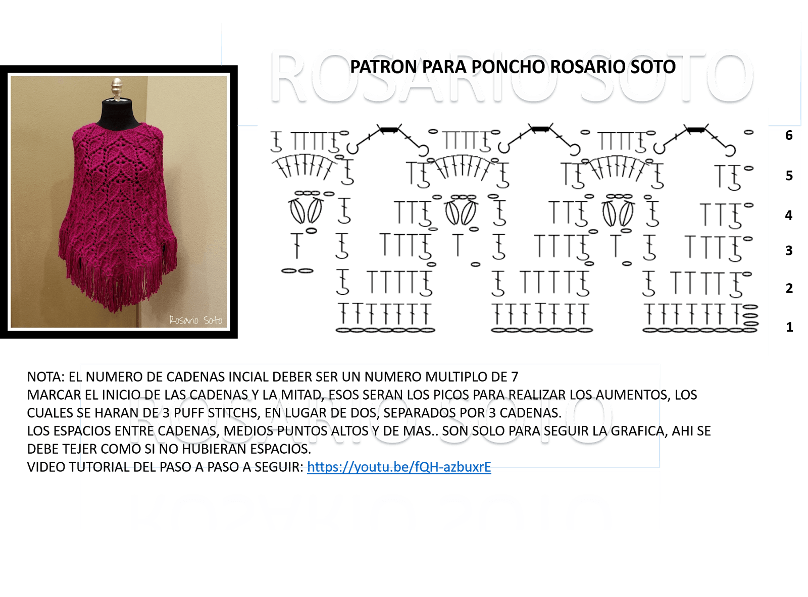 patron-poncho-a-crochet-grafico - Patrones gratis