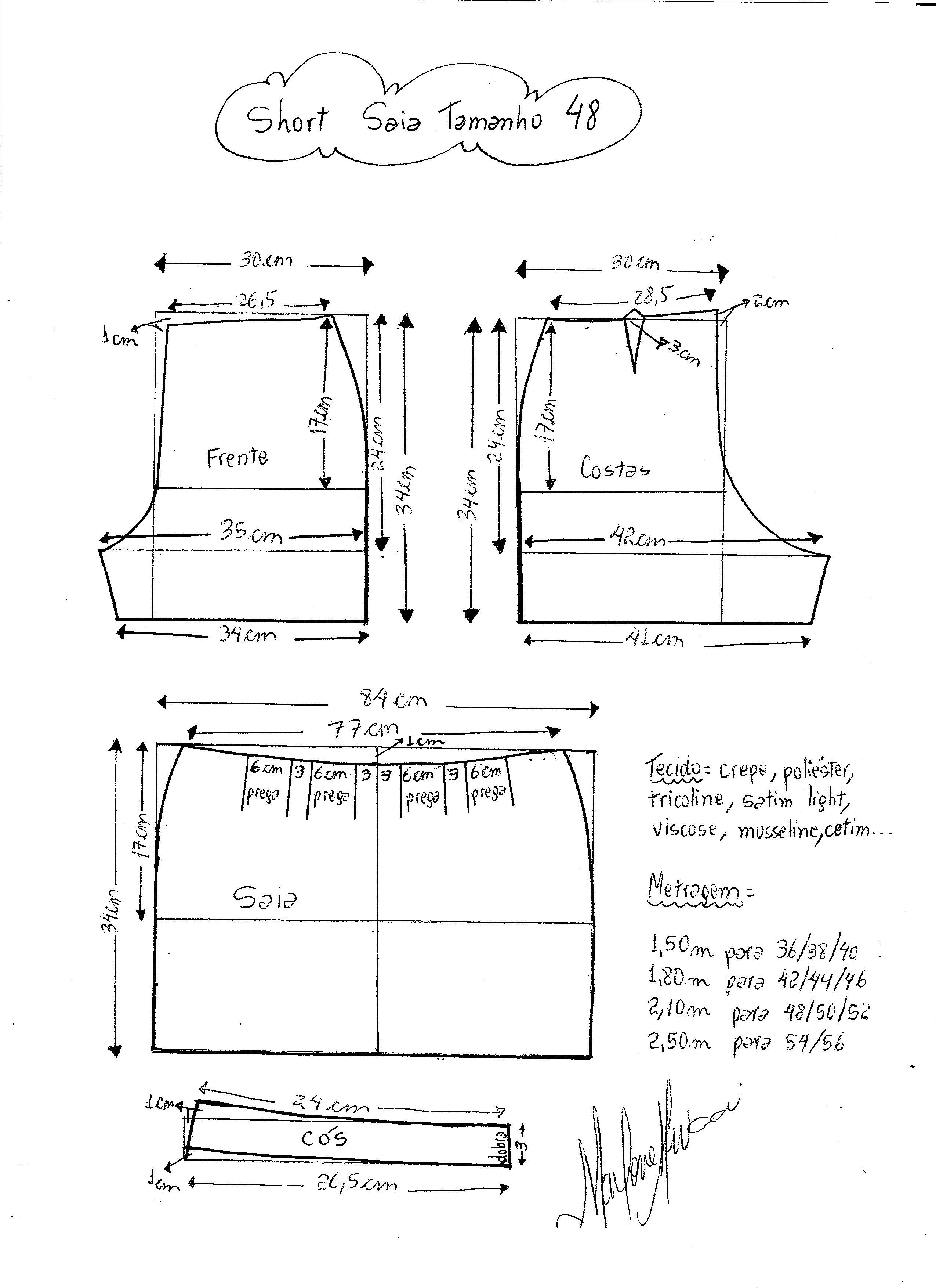 short-falda-48 - Patrones gratis