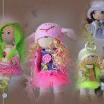 DIY y mismo patrón para diferentes muñecas de tela