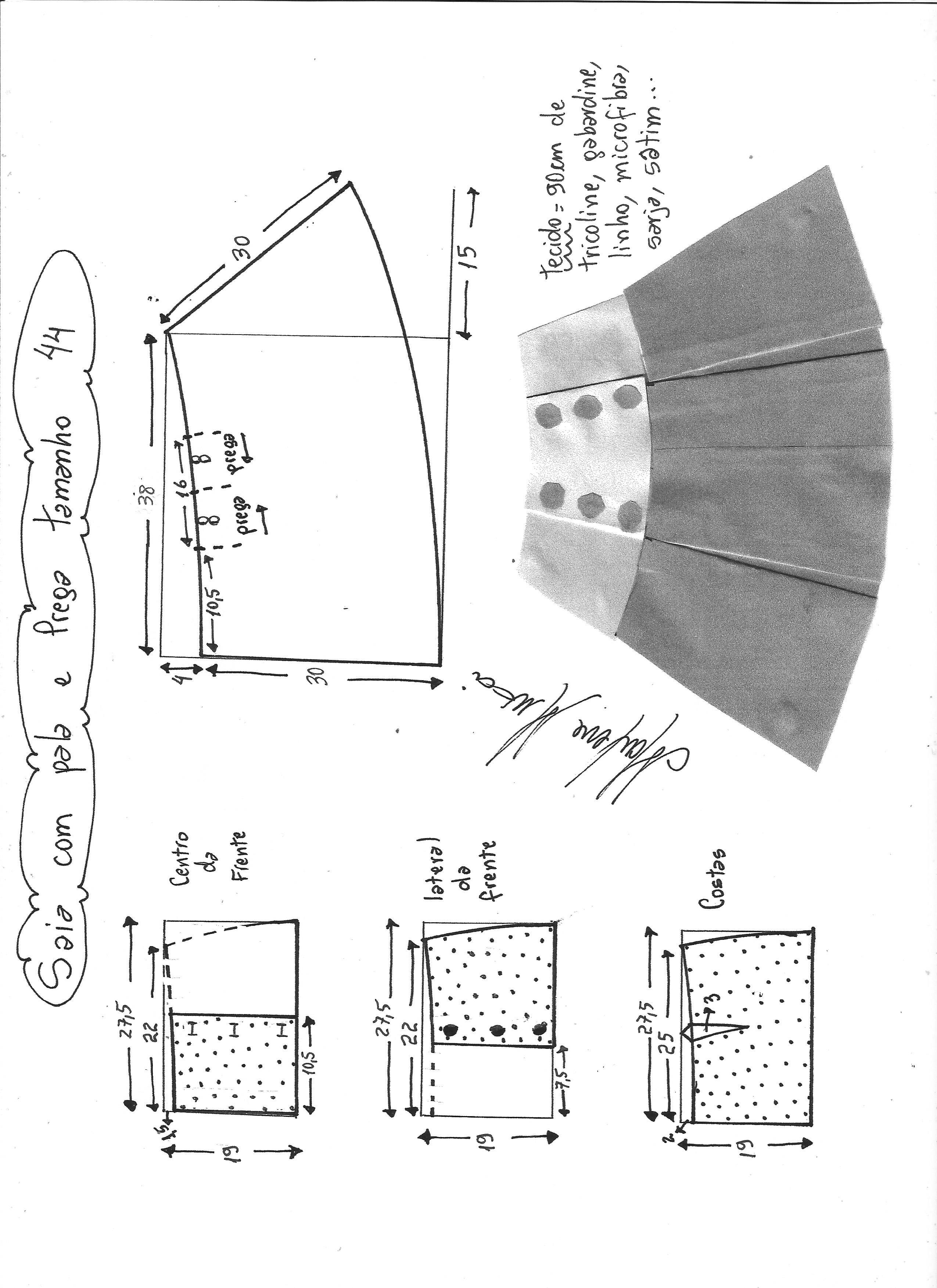 falda con solapa y pliegues-44 - Patrones gratis
