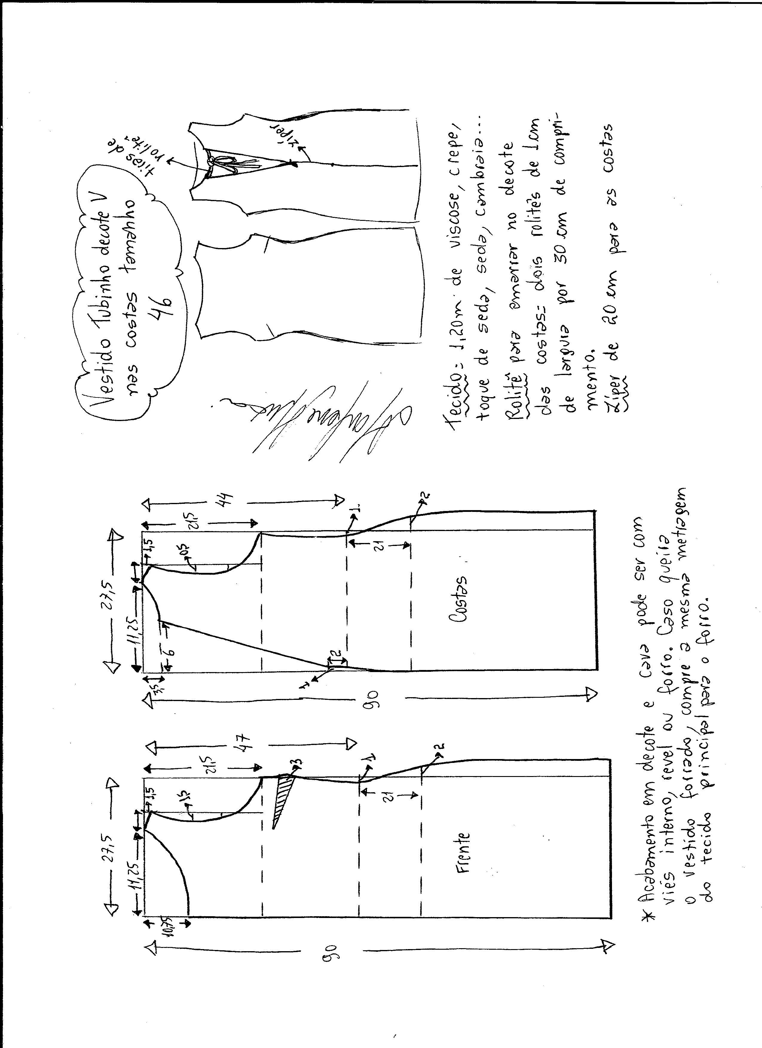 vestido-escote-V-46 - Patrones gratis