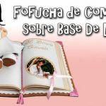 DIY Muñeca Fofucha de comunión sobre libro