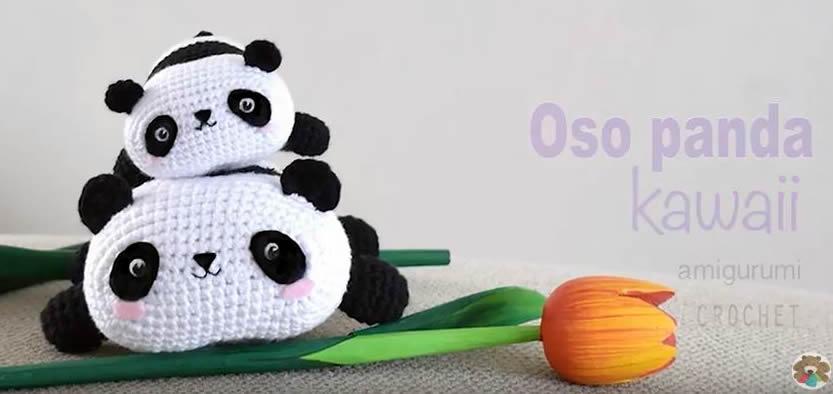 Oso panda kawaii amigurumi - Patrones gratis