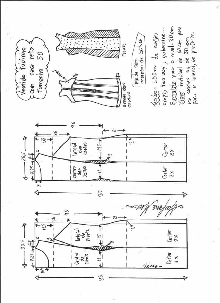 vestido-tubo-recto-50 - Patrones gratis
