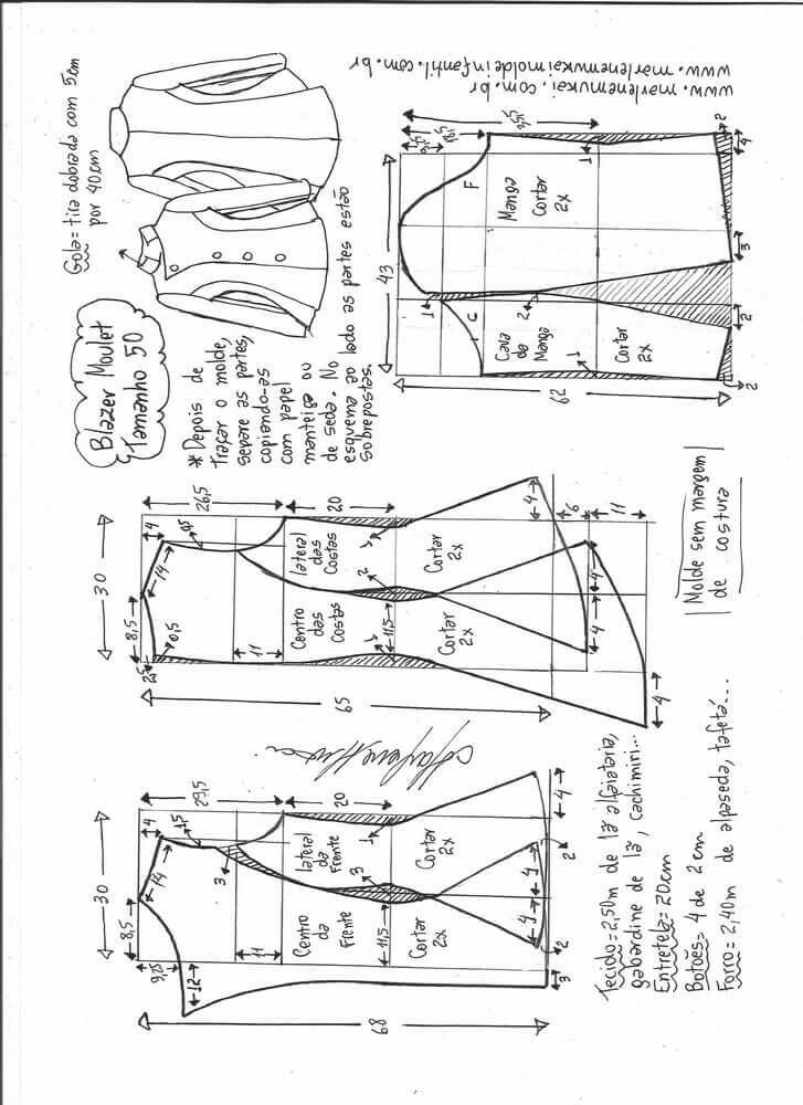 chaqueta-moulet-entallada-mujer-50 - Patrones gratis