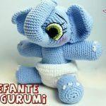 Elefante amigurumi patrón gratis