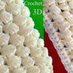 Bufanda a Crochet en punto 3D