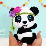 Molde Bebé de Oso panda en fieltro