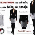 Convertir dos pañuelos en una falda de encaje