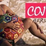 Cojín a crochet de flores africanas