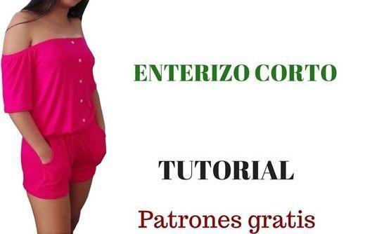 DIY Enterizo corto con patrones gratis