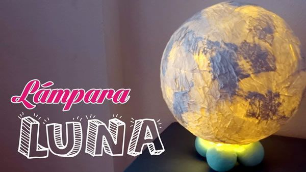 DIY Como hacer una Luna lampara
