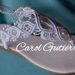 DIY Sandalias novia tejidas a macramé