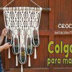Colgante para macetas a crochet imitación macramé