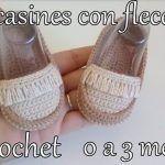 Mocasines para bebés tejidos a crochet