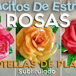 DIY Rosas con botellas de plástico