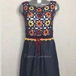 DIY Vestido mezclilla y crochet o ganchillo