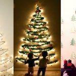 Árbol de Navidad en la pared